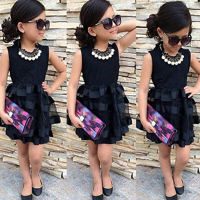 Fashion Kids Baby Girls Princess Party Pageant Wedding Tulle Tutu Flower Dresses