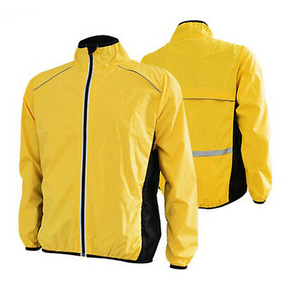 Men Cycling Jersey Riding Jacket Clothing Bike Long Sleeve Wind Breathable Coat