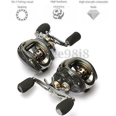 18+1 BB Left/Right Hand Baitcasting Fishing Reel Centrifugal Brake Lure Tackle