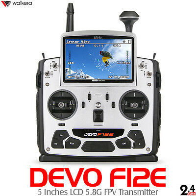 "Walkera DEVO F12E 32 Channels 2.4GHz Real-time FPV Transmitter  5"" LCD Screen"