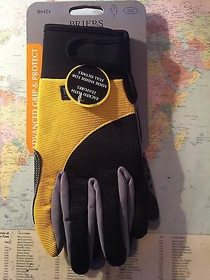 Briers Advanced Grip and Protect Gardening Work Gloves LARGE B6424
