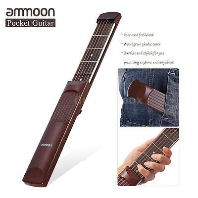 ammoon Pocket Acoustic Guitar Practice Tool Gadget Chord Trainer 6 Fret I9F7