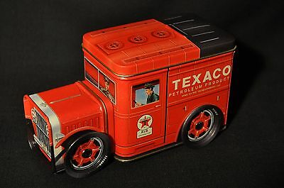 New!  R & B Collectibles Texaco Tin Truck Bank with moving wheels