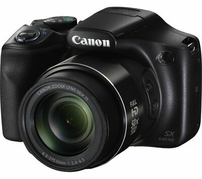 "CANON PowerShot SX540 HS Bridge Camera 20.3MP CMOS Sensor 3"" LCD Screen Black"
