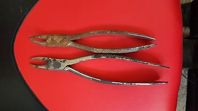 """""""reduced""""2 Antique Vintage Surgical Instruments 1800S  Dental Tooth Extractors"""