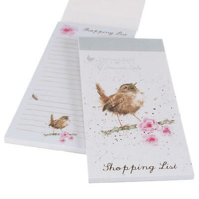 Wrendale Designs Wren Magnetic Shopping List Pad Illustrated by Hannah Dale
