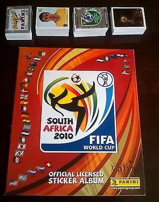 World Cup South Africa 2010 Panini  Empty Album+Full Complete Sticker Set