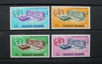 MALDIVES 1968 WHO World Health Organization Set of 4. Mint Never Hinged. SG280/3