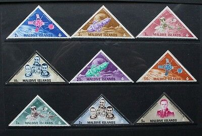 MALDIVES 1968 Space Martyrs. Set of 9. Mint Never Hinged. SG 252/260.