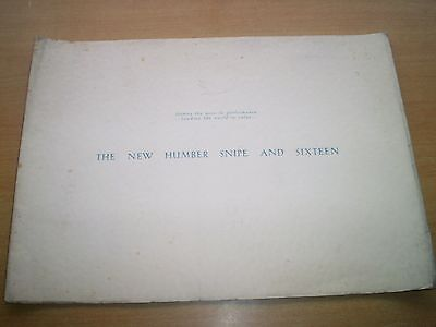 The New Humber Snipe and Sixteen Original UK Large Sales Brochure