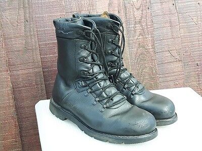 Genuine Army Surplus German Forces Para Boot Padded top Boots Black Leather MK5