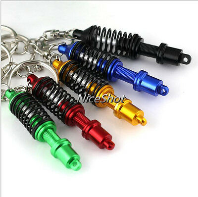 Adjustable Coilover Spring Car Part Shock Absorber Keyring Turbo Keychain Gift