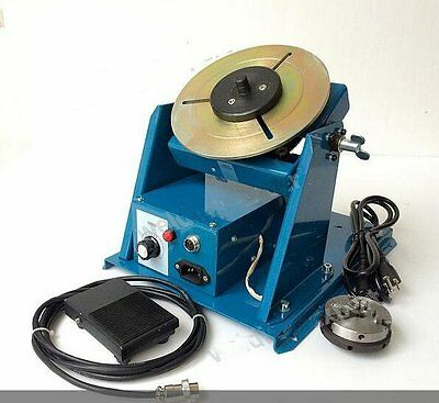 10KG welding turntable rotator for pipe workpiece welding positioner with chuck