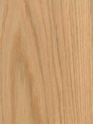"Red Oak Wood Veneer Plain Sliced 10 mil Paper Backer 2' X 8' (24"" x 96"") Sheet"