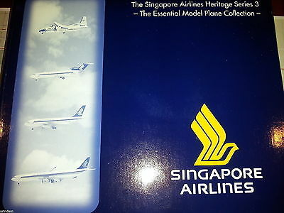 Herpa Singapore Airlines Heritage Series 3 513845 Essential Model Col  ***RARE