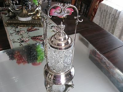 Fabulous!~   Antique Simpson,hall,miller   Silver Plate Pickle Cruet  Castor