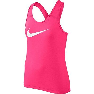 Nike Pro Girls Tank Top Fitness Vest Pink Size Age 14-15 Years NEW