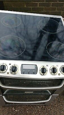 electrolux  electric ceramic hob cooker 60 centimetres silver and steel