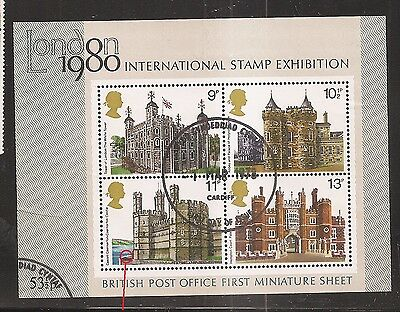 "QE2 Listed Flaw/Variety 1980 Historic Buildings Minisheet ""BREAK IN SEA WALL8887"