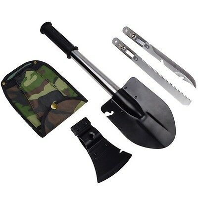 Outdoor camping tool four in one shovel multifunctional sapper axe saw Tactic...