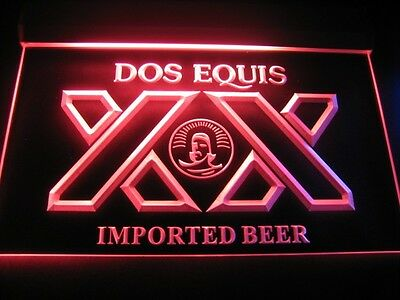 Dos Equis 3D Neon Light Sign Lounge Bar Pub Restaurant Man Cave. STAY THIRSTY