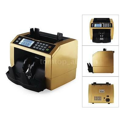 Money Cash Bill Counter Multi-Currency Count Machine Counterfeit Detector A7E9