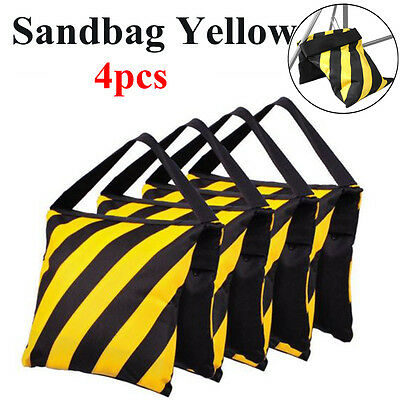 4x Yellow Sandbag Photography Photo Studio Weight Ballast For Boom Arm Stand UK