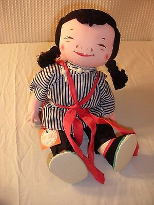 Vintage Michael Lee NWT Chinese Doll Micale  Woman Carrying Baby