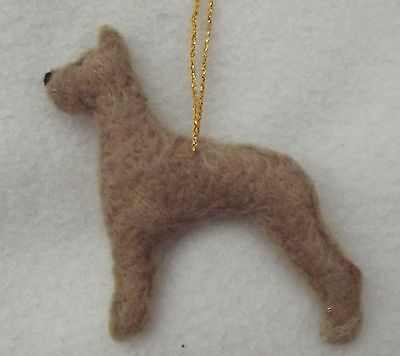 GREAT DANE dog Part needle felted hanging Christmas decoration ornament
