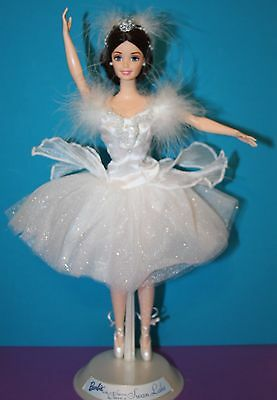 NEW! OOB 1998 BARBIE Ballerina Doll SWAN QUEEN in SWAN LAKE Out of Box COMPLETE