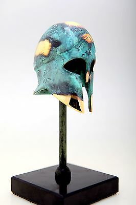 Ancient Greek Bronze Museum Replica Vintage Corinthian Soldier Battle Helmet New