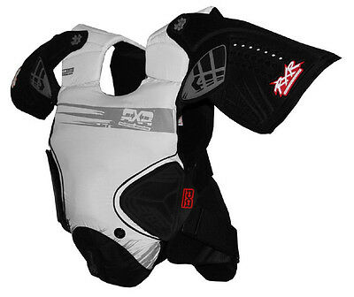 RXR Chest Protector Full Organic White Large New Motorcycle MX Dirt Bike