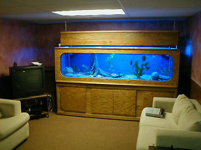 Custom Plywood & Glass Aquarium Plans With Full Hood And Matching Stand.........