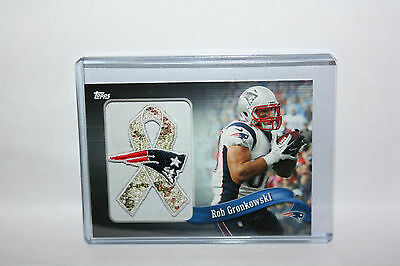"NFL Topps ""Rob Gronkowski - New England Patriots"" Patch Ribbon Card STS"