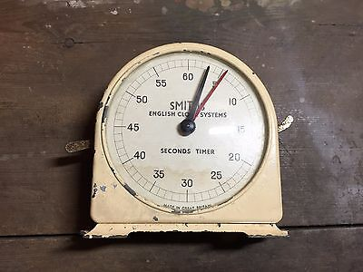 Vintage Smiths Darkroom Seconds Timer by English Clock Systems - Works