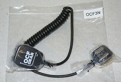 OCF Gear Nikon Off-Camera TTL Shoe Flash Coiled Cord - OCF3N - 3-foot, 1 meter