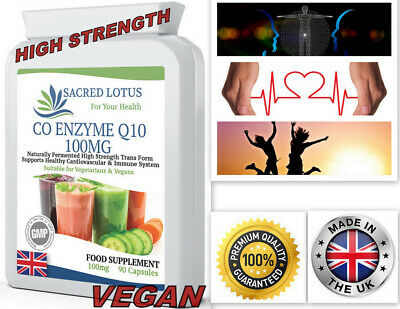 Co-Enzyme Q10 CoQ10 100mg  HIGH STRENGTH Energy Heart Supplement 90 Capsules