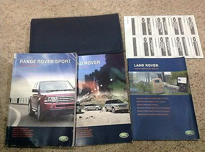 Range Rover Sport Handbook Owners Manual Wallet 2004-2008 And Navigation.  , Tv