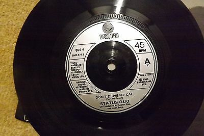 "status quo 7"" 45 vinyl record lies rare mispressed misspelt dont drive my caf"