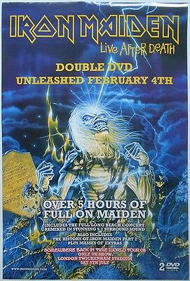 IRON MAIDEN Live After Death DVD Release Rare Orig Official UK Publicity POSTER