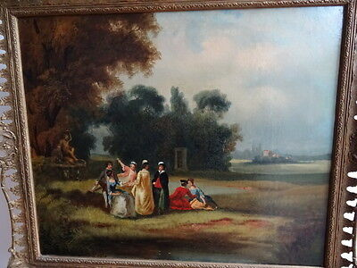 19th Century oil painting {FRENCH SCHOOL MID 19TH CENTURY} LARGE SIZE.