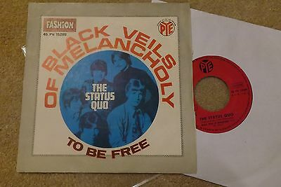 "status quo 7"" 45 vinyl record black veils of melancholy french rare"