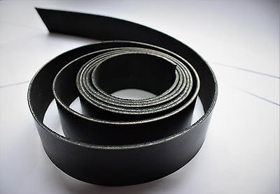 """80"""" STRAP 2m long BLACK 2.5mm thick BRIDLE Leather BELT THONG STRIP from10-100mm"""