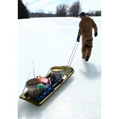 Deer Hunting Equipment Heavy Duty Drag Hauling Fishing Snow Sled Winter Sports