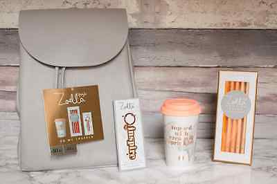 New | Zoella Lifestyle 'On My Travels' Backpack / Rucksack Gift Set