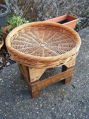 Excellent Large Quality Made Wicker Bread/Table Shallow Basket