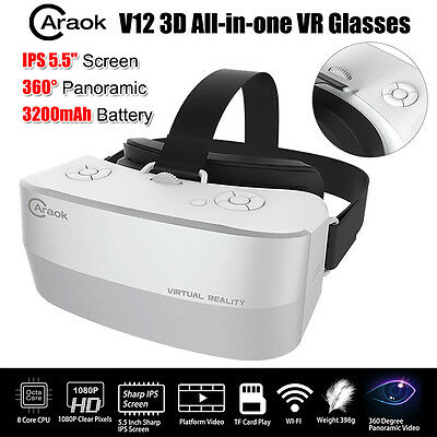 """5.5"""" IPS Screen All In One 3D VR Box Virtual Reality Goggles Glass Headset Smart"""