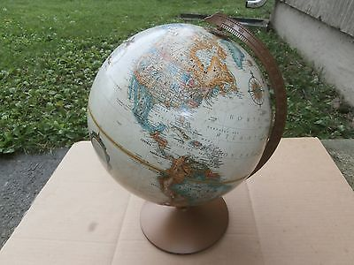 "Vintage Replogle World Classic Serries 12"" Inch Diameter Globe With Metal Frame."