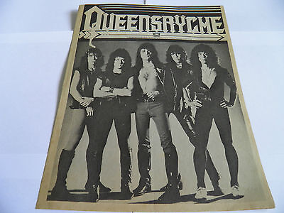 Queensryche - Promotional Newspaper 1983 EMI America RARE US Metal NWOBHM
