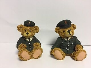Limited Edition RUC Male And Female Ceramic Teddy Bears